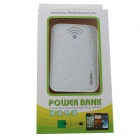 "GDW ""12000mAh"" Dual USB External Battery Charger Power Bank w/ USB Cable for IPAD / IPHONE - White"