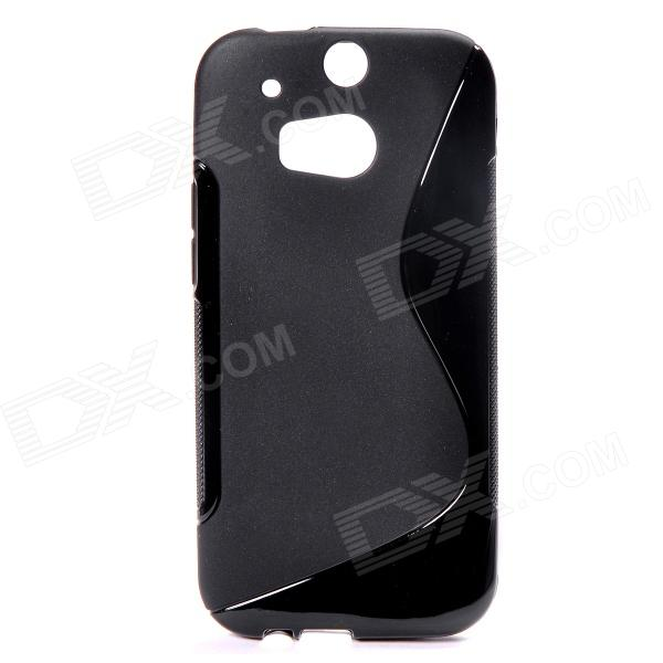 """S"" Style Protective TPU Back Case for HTC ONE 2 (M8) - Black"