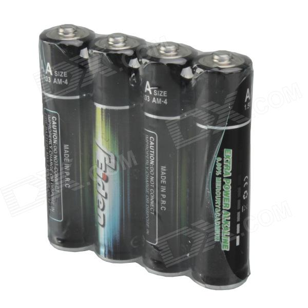 SF-BA3 1.5V Alkaline AAA Batteries - Black (4 PCS)