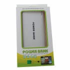 "GDW ""20000mAh"" Dual USB External Battery Charger Power Bank w / cabo USB para iPad / iPhone - Branco"