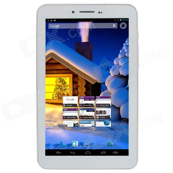 "KNC MD703A 7.0"" Dual Core  Android 4.2 Tablet PC w/1GB RAM,8GB ROM, Bluetooth,2 x SIM,GPS White"