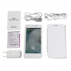 "CUBOT P6 Dual-Core Android 4.2.2 WCDMA Bar Phone w/ 5"" GPS and Dual-SIM - White"