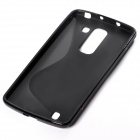 """S"" Style Anti-Slip Protective TPU Back Case for LG Optimus G Pro 2 - Black"