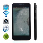 "CUBOT P6 Dual-Core Android 4.2.2 WCDMA Bar Phone w/ 5"" IPS, GPS and Dual-SIM - Black"