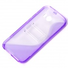 Style « S » protection TPU + PC DOS cas w / Stand pour HTC ONE 2 (M8) - violet + Transparent