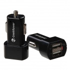 GeekRover iCHG2313 2.1A / 1A Dual-USB Car Cigarette Lighter Charger Adapter - Black