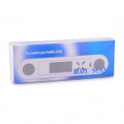 "BZ-2010 1.2"" LCD Multifunctional US Body Fat Controller / Analyzer - White + Blue (1 x CR2025)"