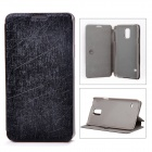 Protective PU Leather + PC Case Cover Stand for Samsung Galaxy S5 - Black