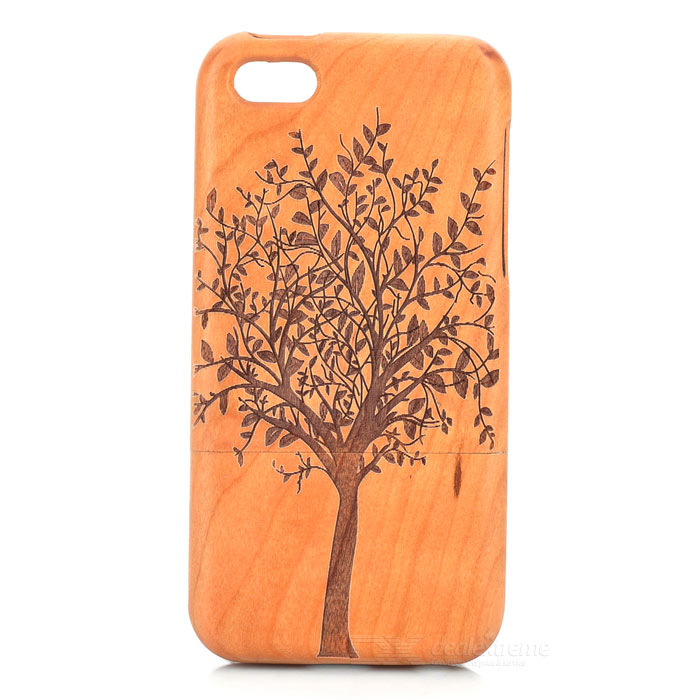Tree Pattern Detachable Protective Wood Back Case for IPHONE 5C - Wooden + Brown