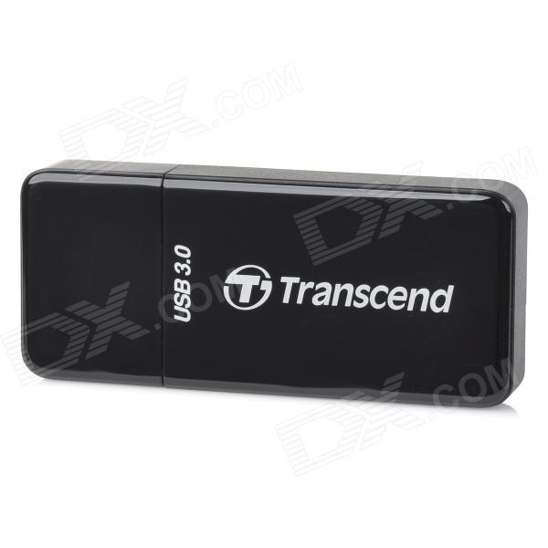 Transcend RDF5 High Speed USB 3.0 TF/SD 2-in-1 Card Reader SUPPORT UHS-I Flash Card - Black (128GB)