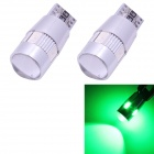 T10 3W 270lm 6 x SMD 5630 LED Error Free Canbus Green Light Car Clearance Lamp - (DC 12V / 2 PCS)
