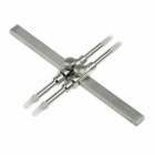 Stainless Steel Lens Spanner Wrench 8-130mm Lens Range Repair Tools for SLR DSLR lens -Silver