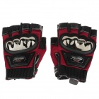 Mad Bike MAD-04S Non-slip Body Building Sports Cycling Half Finger Gloves - Red + Black (Size-M)