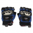 Mad Bike MAD-04S Non-slip Body Building Sports Cycling Half Finger Gloves - Blue + Black (Size-L)
