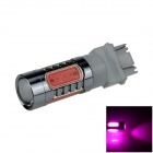 3157 / 3156 7.5W 400lm 700nm 5-LED Purple Car Brake / Backup / Steering / Tail Light Lamp - (12~24V)