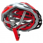 TOPCYCLING T800 Cycling Bike PC + EPS Helmet w/ 3-Mode Light - Red  + White (1 x CR2032)