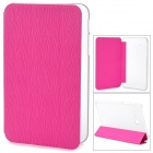 Stylish Flip-open PU + Plastic Case w/ Holder for Samsung Galaxy Tab 3 Lite T110 - Pink