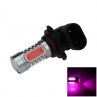 9005 / HB3 7.5W 400lm 5-COB LED Purple Light Car Foglight / Headlamp / Tail Light - (12~24V)