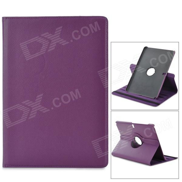 Stylish Flip-open PU Case w/ 360' Rotating Back for Samsung Galaxy Note 12.2 P900 - Purple stylish flower pattern flip open pu leather case w holder 360 rotating back for ipad 2 3 4
