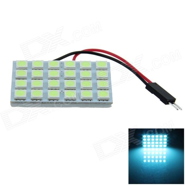 T10 / BA9S / Festoon 4W 200lm 24 x SMD 5050 LED Ice Blue Car Light Reading / Panel de luz - (12V)