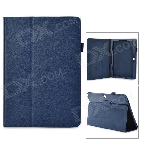 "Protective Flip-open PU Case w/ Holder for Samsung Galaxy Note 12.2"" P900 - Deep Blue"