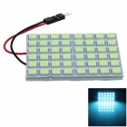 T10 / BA9S / Festoon 8W 400lm 48 x SMD 5050 LED Ice Blue Car Reading Light / Panel Light - (12V)