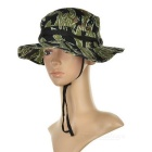 Cotton Outdoor Fishing Sunscreen Hat -Tiger camouflage