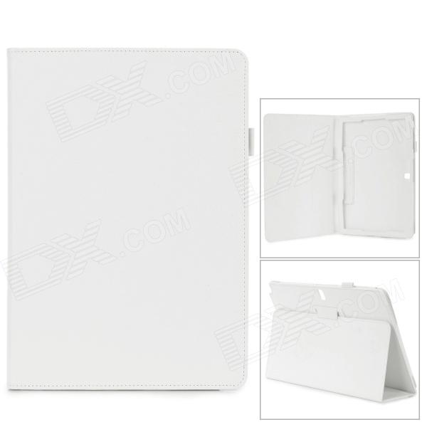 Protective PU Leather Case w/ Stand for Samsung Galaxy Note 12.2 P900 - White nillkin silk series protective pu leather case w auto sleep for samsung galaxy note 4 white