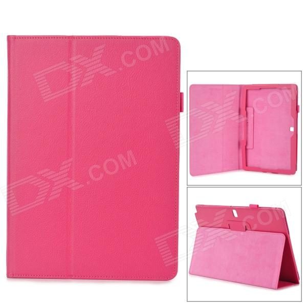 Protective Flip-open PU Case w/ Holder for Samsung Galaxy Note 12.2 P900 - Deep Pink protective pu leather flip open case w stand for samsung note 3 n9000 deep pink light green