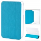 Stylish Flip-open PU + Plastic Case w/ Holder for Samsung Galaxy Tab 3 Lite T110 - Blue