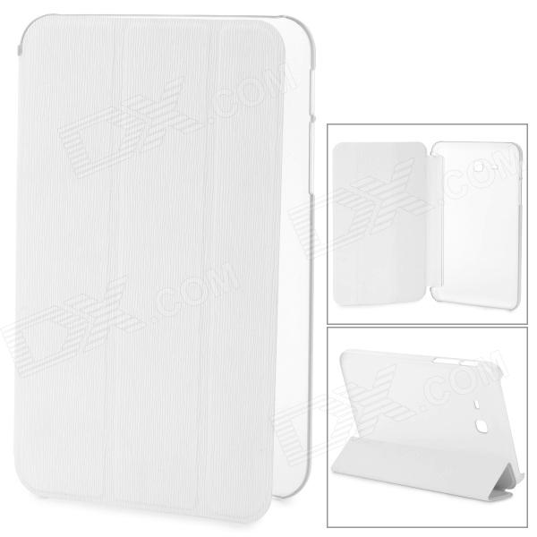 Stylish Flip-open PU + Plastic Case w/ Holder for Samsung Galaxy Tab 3 Lite T110 - White - DXTablet Cases<br>Color White Brand N/A Quantity 1 Set Shade Of Color White Material Plastic + PU Compatible Brand Samsung Compatible Size 7 inch Style BusinessCasualFashionContemporary Compatible Model Samsung Galaxy Tab 3 Lite T110 Type Others Packing List 1 x Case<br>