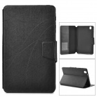 Protective Flip-open PU Leather Case w/ Holder + Card Slot for Samsung Galaxy Tab Pro - Black