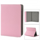 "Universal Lychee Grain Style Protective PU Leather Case for 7""~8"" Tablet PC - Pink"