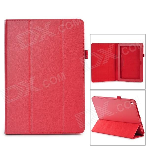 Stylish Flip-open PU Leather Case w/ Holder for ACER Iconia A3~A10 10.1 - Red