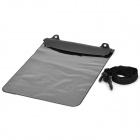 "Protective Single-Side Window PVC Waterproof Bag for 11.6"" Tablet PC - Black"