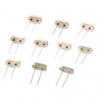 Iron Crystal Oscillator Set - Silver (10 PCS)
