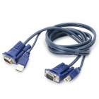 Yaosheng USB + VGA Male KVM Switch Cable - Blue (1.4m)