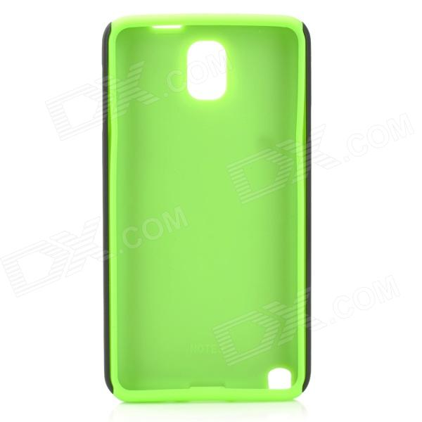 Protective Plastic + Silicone Back Case for Samsung Note 3 / N9000 - Green + Black protective aluminum alloy pc back case for samsung galaxy note 3 n9000 more red black