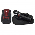 "V7- ​​1.5"" Display Car Radar Detector w / Car Charger - Negro (12V / Inglés)"