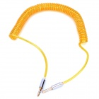 B003 3.5mm Male to Male Spring Audio Cable - Yellow