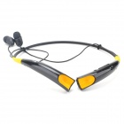 Vitality HBS-740 Bluetooth V4.0 Wireless Stereo Headset Headphone w/ Microphone - Black + Yellow
