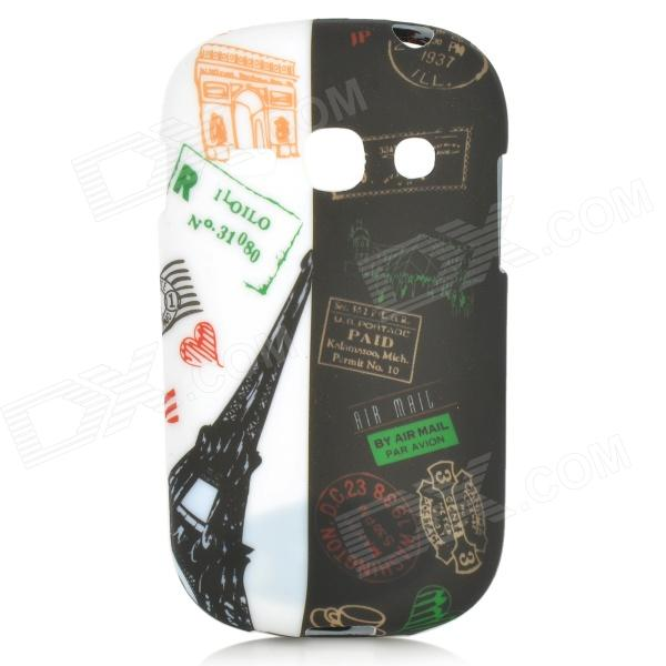 Graffiti Famouse Building Pattern Protective TPU Back Case for Samsung Galaxy Fame S6812 / S6810