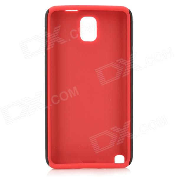 все цены на Protective Matte Plastic + Silicone Back Case for Samsung Galaxy Note 3 N9000 - Red + Black