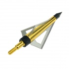 TP211 3-Blade Hunting Shooting Arrow Head Broadheads - Golden + Silver (3 PCS)