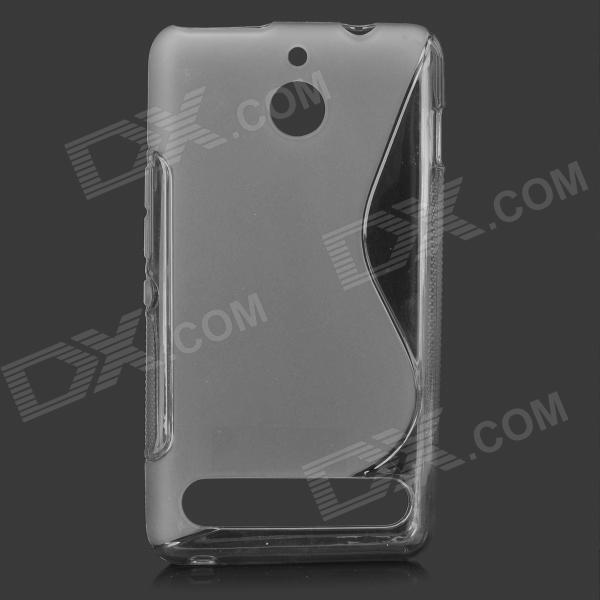 YI-YI ''S'' Shaped Anti-skid Protective TPU Back Case for Sony Xperia E - Translucent Grey yi yi s shaped anti skid protective tpu back case for sony xperia e translucent grey