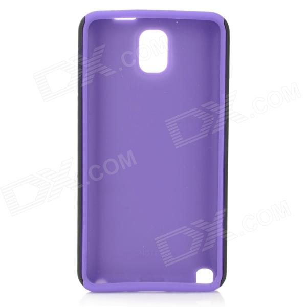 Protective Matte Plastic + Silicone Back Case for Samsung Galaxy Note 3 N9000 - Light Purple + Black protective aluminum alloy pc back case for samsung galaxy note 3 n9000 more purple black