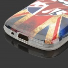 Mouth + UK Flag Pattern Protective TPU Back Case for Samsung Galaxy Trend Duos S7562 / S7560