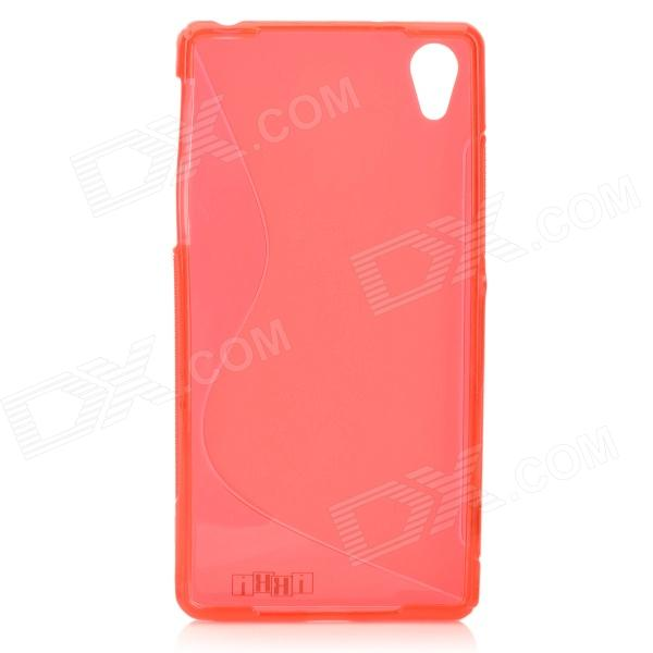 IKKI Protective ''S'' Pattern TPU Back Case for Sony Xperia Z2 / D6503 - Red ikki x pattern protective tpu case for sony xperia z2 tablet p511 p512 translucent blue