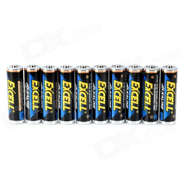 EXCELL Alkaline 1.5V AA Batteries (10 PCS)