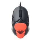 AULA CFLL007 USB Wired 1500dpi Gaming Mouse - Black + Red